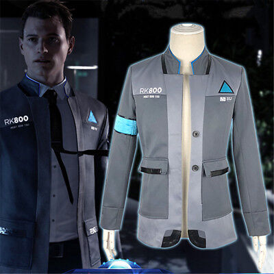 Detroit  Become Human Connor Rk800 Suit Uniform Blazer Jacket Cosplay Costume
