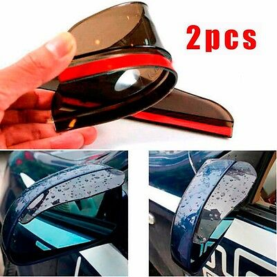 Euro Reversible Board - 2pcs Transparent Black Car Rearview Mirror Rain Water Eyebrow Cover Side Shield