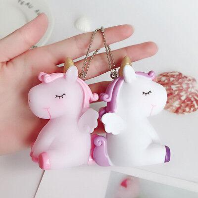Squishy Cute Animal Unicorn Pendant Keychain for Bag Handbag Phone Car Key - Cute Keychains For Car Keys