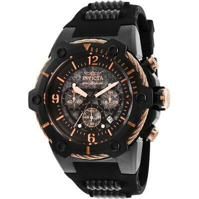 Invicta Bolt 25469 Men's Round Analog Chronograph Date Black Polyurethane Watch