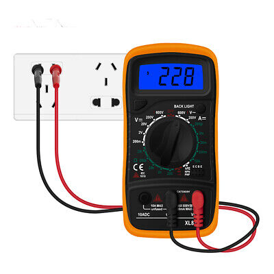 Small Digital Lcd Multimeter Xl830l Voltmeter Ammeter Ohmmeter Ohm Volt Tester