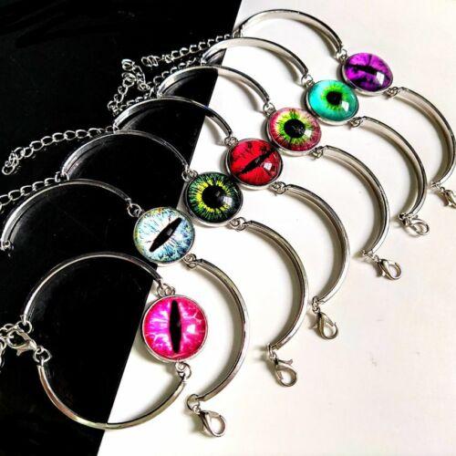 10pcs Creative Gothic Demon Eye Bracelet for Women Goth Evil Eye Hip Hop Bangle