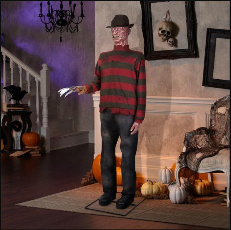 6 Ft LIFE-SIZE Animated FREDDY KRUEGER Nightmare on Elm Street by GEMMY