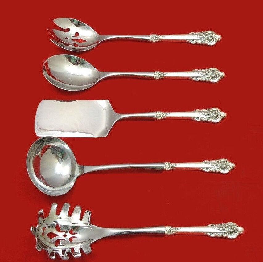 "Grande Baroque by Wallace Sterling Silver Casserole Spoon HHWS 11 1//2/"" Custom"