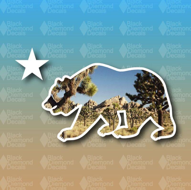 "California State Bear Joshua Tree Park Star Cali 5"" Custom Vinyl Decal Sticker"