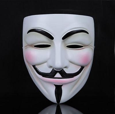 FACE MASK ANONYMOUS V FOR VENDETTA GUY FAWKES FANCY DRESS HALLOWEEN UK - Halloween Face Mask Uk