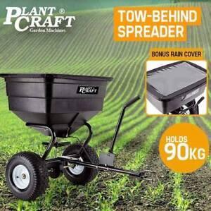 Tow Behind Broadcast Spreader 90kg 105L Seed Fertiliser Tow Rotar