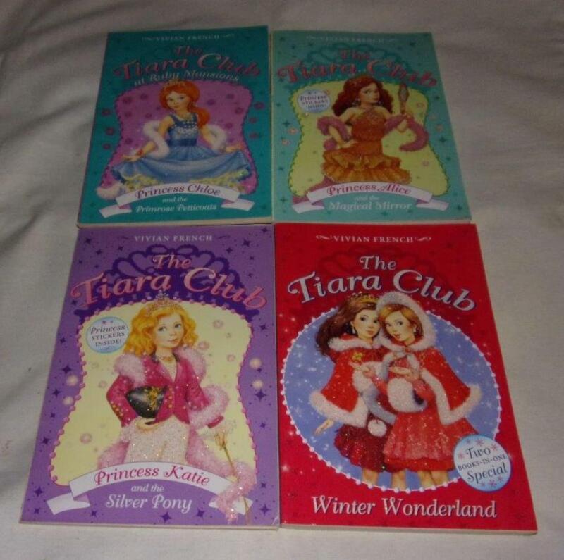 Set of 4 The Tiara Club series books by Vivian French