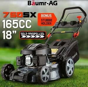 "Lawn Mower Self Propelled 18"" 165cc 4 Stroke Baumr-AG Petrol"