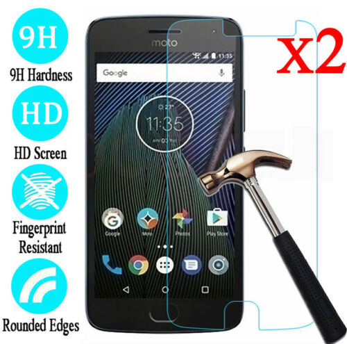 2*Tempered Glass Screen Protector Waterproof Film for Motorola Moto G4 G5 G6Plus