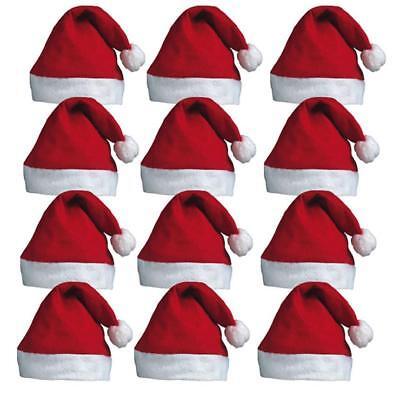 BULK BUY CHRISTMAS SANTA HATS FANCY DRESS XMAS PARTY SANTA CLAUS WHOLESALE - Santa Hats Bulk