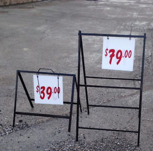 SIDEWALK A-SIGN FRAMES 2 SIZES