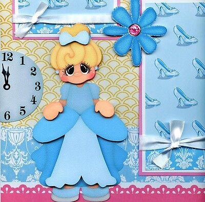 Cinderella Disney 2 premade scrapbook pages layout 4 album paper piecing CHERRY