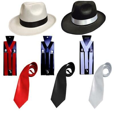 Luxus Erwachsene Gangster 1920ER Fancy Dress Al Capone Hut Gamaschen - Gangster Fancy Dress Kostüm