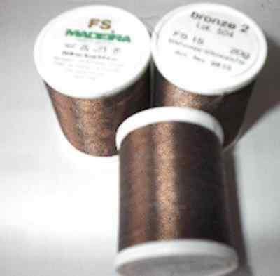 Metall Stickgarn Madeira FS No. 15 bronze 2 20g. NEU   ()