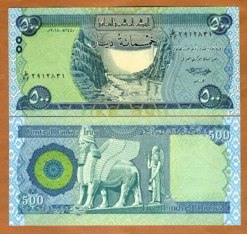 Iraq, 500 Dinars, 2018, P-New, New Signature, UNC