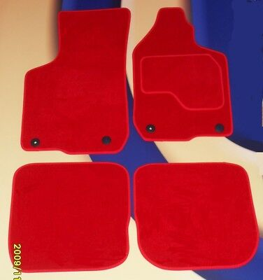AUDI TT COUPE 2007   2015 NEW TAILORED CAR MATS TUFTED RED VELOUR  4 RECEPTORS