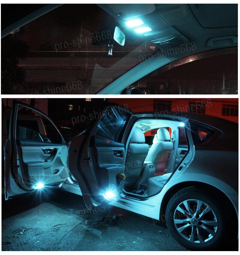 11PCS 12v Aqua Ice Blue Car LED Lights Interior Package for Chevy Suburban 00-06