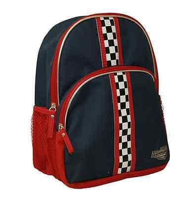 Stride Rite Vroomz Backpack in Dark Blue w/ Race Car Stripes
