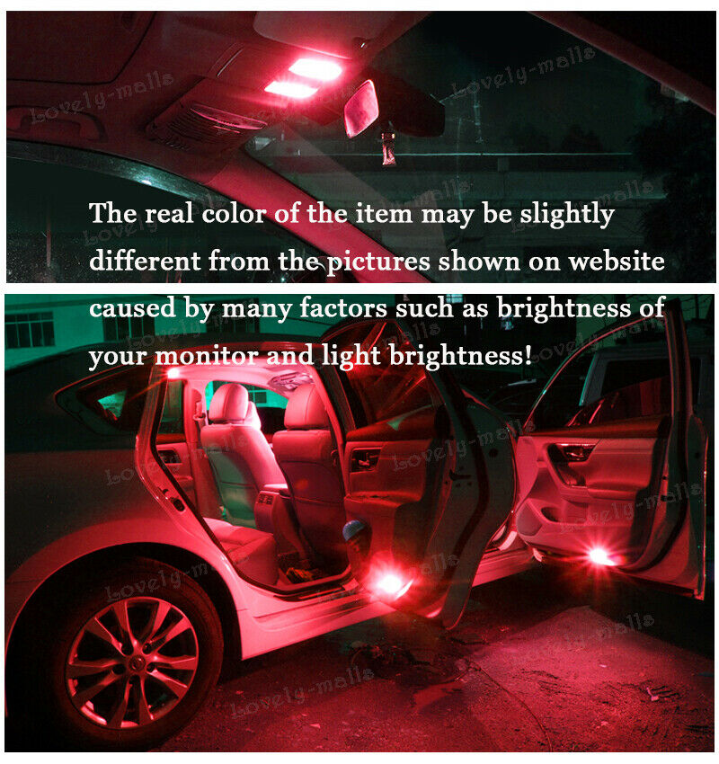 9pcs Red Car LED Lights for Cadillac CTS//CTS-V 2003-2007 Interior Bulbs Package
