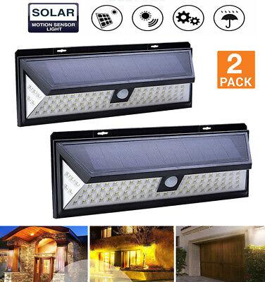 2X 86 LED Solar Light PIR Motion Sensor Spot Lamp Garden Outdoor Sun Power