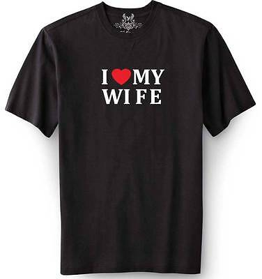 New Mens Printed  I Love My Wife  Funny T Shirt All Size