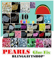 N.1 Perle Resina Retro Piatto Strass Diamante Finto Gemme Ab Colori -  - ebay.it