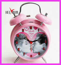 I Love Lucy Desk Twin Bell Pink Alarm Clock GIFT DECOR COLLECTOR Clock