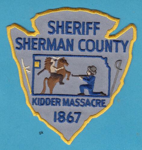 SHERIFF SHERMAN COUNTY KANSAS  KIDDER MASSACRE  1867 POLICE SHOULDER PATCH