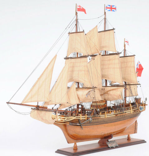 """HMS Bounty Wooden Tall Ship Model Sailboat 37"""" Fully Assembled Replica Boat New"""