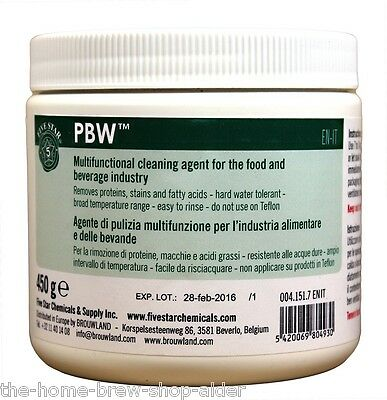 PBW 450g Five Star  - Home Brew - Cleaner - For Food or Beverage Industry