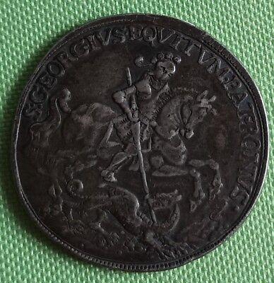 Medaille Hl. Georg Georgius Schutzpatron Drachentöter  INTEMPLESTATE SECURITAS