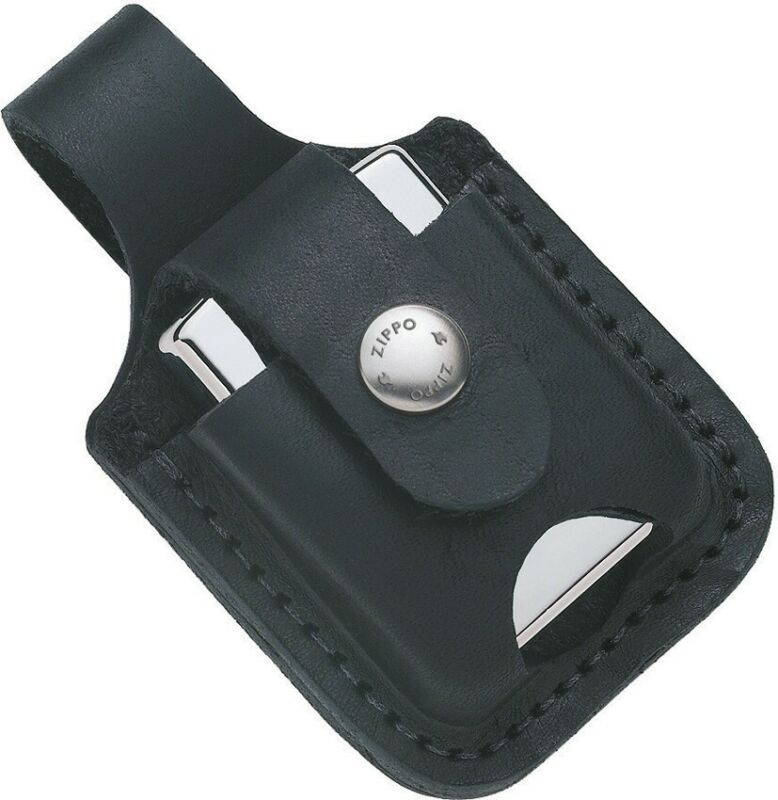 Zippo Lighter Pouch Black Leather 17012