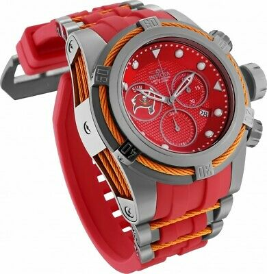 NWT Invicta 52mm Bolt Zeus NFL OFFICIAL TAMPA BAY BUCCANEERS Chrono Strap Watch