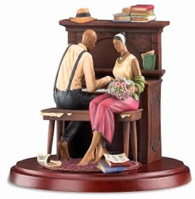 John Holyfield Serenade Ebony Visions Figurine Limited Edition Piano Scene NEW