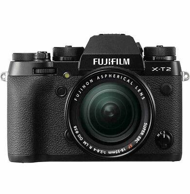 Fujifilm X-T2 Mirrorless Digital Camera with 18-55mm F2.8-4.0 R LM OIS Lens Kit