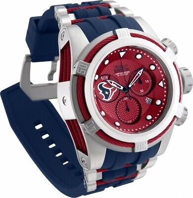Invicta NFL OFFICIAL HOUSTON TEXANS 52mm Bolt Zeus Chrono Silicone Strap Watch