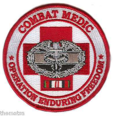 COMBAT MEDIC OPERATION ENDURING FREEDOM BADGE RIBBON EMBROIDERED MILITARY  PATCH