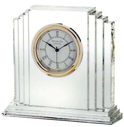 Waterford Metropolitan 6 Large Crystal Clock #9803730062 New In Box