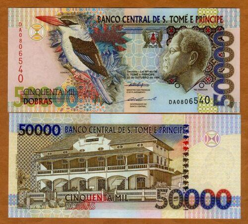 St Thomas & Prince, (50,000) 50000 Dobras, 1996 P-68a, UNC