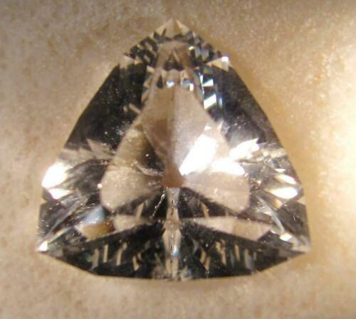 Untreated Goshenite Beryl, Brazil, 15X15mm  Triangle Cut 8.46ct. Item #1090