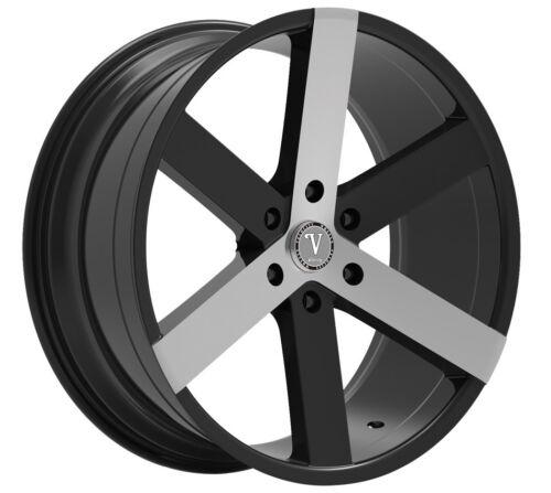 26 Inch Velocity Vw22 Black Polish Wheels & Tires Fit 6 X 139.7 Suburban, Sierra