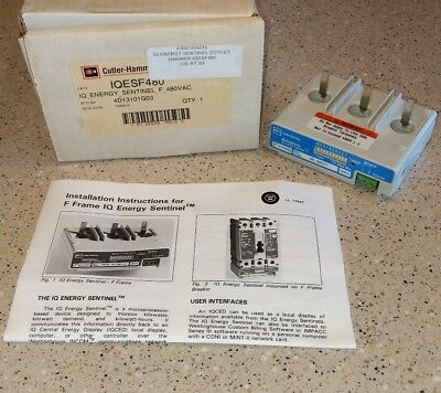 New In Box   Cutler Hammer Iqesf480 Iq Energy Sentinel F 480Vac 4D13101g03