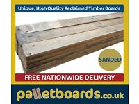 Unique High Quality Reclaimed Pallet Boards - Free Delivery - Lowest UK Prices - Any m2 Coverage