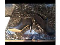 "Black ""Moda In Pelle"" Boots - Worn Once"
