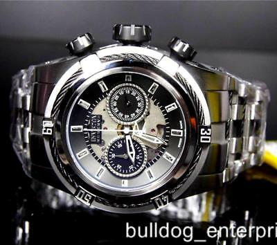 Mens Invicta Reserve Zeus Bolt Auto Dubois Depraz Black Swiss Steel Watch New