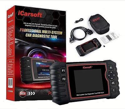 PORSCHE Diagnostic Scanner Tool AIRBAG ABS ENGINE BRAKE RESET iCarsoft POR V2.0