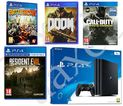 PS4 Pro Playstation 4 Pro 1TB + 4 Games *NEW SEALED* WORLD SHIPPING