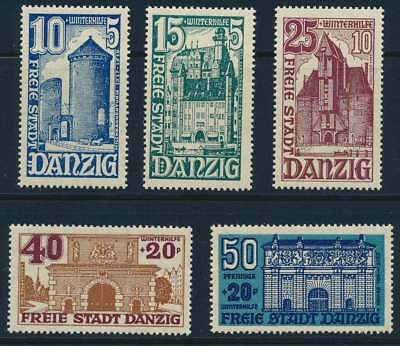 Danzig Nr. 262-266 postfrisch / **, WHW Bauwerke 1936 (46506)
