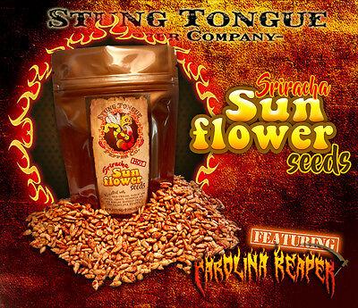 HOT Sriracha sunflower seeds made w/ Carolina Reaper.